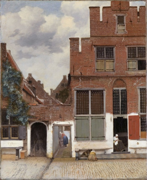 The little street *oil on canvas *54.3 x 44 cm *signed b.l.: I. VMeer